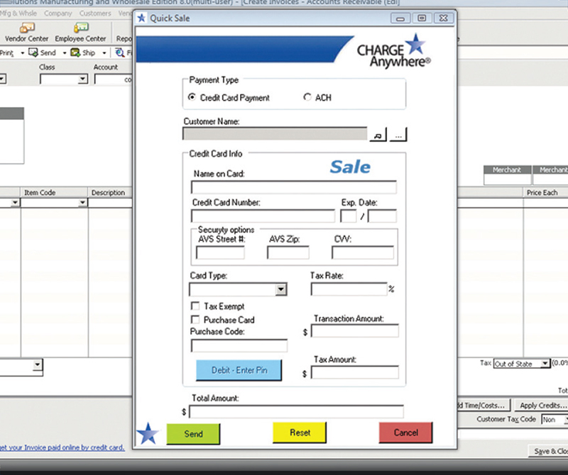 Process transactions directly within QuickBooks®